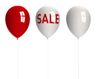 Balloons / Sales Concept. Balloons isolated on white background with clipping path. 3D image vector illustration