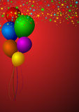 Balloons. Colorful abstract background with balloons stock illustration