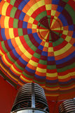 Balloons. Colorful hot air balloon and burner Stock Images