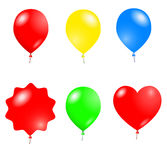 Balloons. Vector shining balloons isolated on white Stock Photography