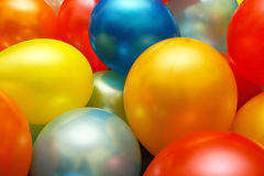 Balloons. Multy colored balloons together as a background Stock Photography