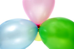 Balloons. Close up of some balloons of different colors royalty free stock photo