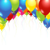 Balloons. Flying up in the air over white Royalty Free Stock Images
