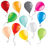 Balloons. Illustration of multicolor balloons for your design Royalty Free Stock Photography