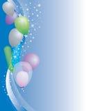Balloons. Festive balloon release, perfect background Royalty Free Stock Photos