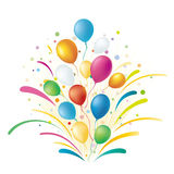 Balloons. Colorful balloons,celebration background Stock Photo