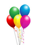 Balloons. Party balloons on isolated background vector illustration