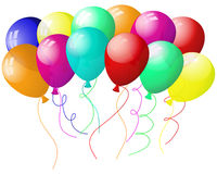 Balloons. Beautiful balloons in the air. Vector illustration royalty free illustration