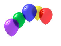 Balloons. Colorful party balloons against white background Royalty Free Stock Images