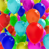 Balloons. Group of colorful balloons background stock illustration