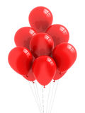 Balloons. A bunch of red balloons royalty free illustration