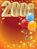 Balloons 2008. New Year 2008 decoration ready for posters and cards Stock Illustration