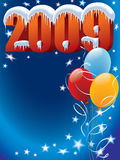 Balloons 2009. New Year decoration ready for posters and cards Royalty Free Stock Image
