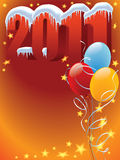 Balloons 2011. New Year 2011 decoration ready for posters and cards Royalty Free Illustration