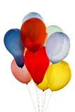 Balloons. Balloons of different colors on white background stock photography