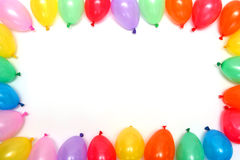 Balloons. Plenty of colorful balloons on a white background Stock Photo