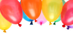 Balloons. Plenty of colorful balloons on a white background Royalty Free Stock Images