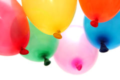 Balloons. Plenty of colorful balloons on a white background royalty free stock photos