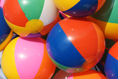 Balloons. The close-up of colorful petal balloons Stock Photography