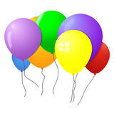 Balloons. Groups of colorful balloons illustration Stock Photo
