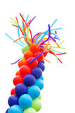 Balloons. Red, blue, and green balloons on white background Royalty Free Stock Images