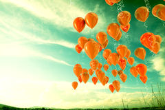 Balloons. 3d image of balloons outdoor background Royalty Free Stock Image