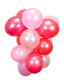 Balloons. Pink and red Balloons on white stock photography