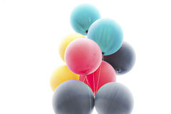 Balloons. Large balloons with muted color and bright sunlit background Stock Photos