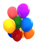 Balloons. 3d render of different colours party balloons Stock Photo
