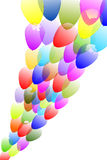 Balloons. Lots of colorful balloons flying into the sky Vector Illustration