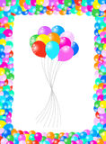 Balloons. Illustration of balloons, blue, yellow, red, green, orange Royalty Free Stock Photography
