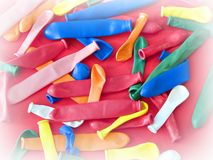 Balloons. Multi colored balloons royalty free stock images
