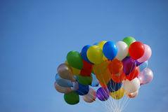 Balloons. Ballons in the blue sky do happen occationally in sports event and launching ceremony Stock Images