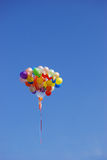 Balloons. Ballons in the blue sky do happen occationally in sports event and launching ceremony Stock Photography