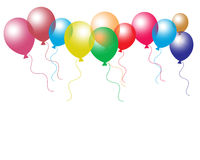 Balloons. Party balloons on isolated background Royalty Free Stock Photography