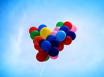 Balloons. Group of Balloons in heart shape Royalty Free Stock Photo