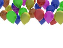 Balloons. Isolated on white background Royalty Free Stock Images