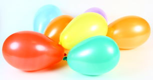 Balloons. Seven colorful balloons on a white background Stock Photo