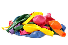 Balloons. Coloured balloons. New not inflated. Background Royalty Free Stock Photography
