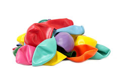 Balloons. Coloured balloons. New not inflated. Background Stock Photos