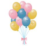 Balloons. Balloons pastel vector illustration isolated over white background Stock Photography