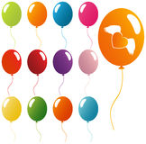 Balloons. Vector Colorful Balloons Collection Isolated Royalty Free Stock Photography