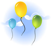 Balloons. Colorful balloons illustration Royalty Free Stock Photo
