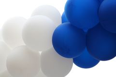 Balloons. Blue and white round balloons Stock Images