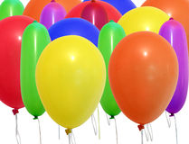 Balloons. Inflatable balloons, photo on the white background Royalty Free Stock Photo