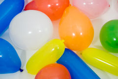 Balloons. Many colored balloons for a party Stock Images