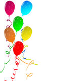Balloons. Party balloons on isolated background Royalty Free Stock Photos