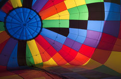 Balloons. Bullseye pattern of inside of hot air balloon Royalty Free Stock Photo