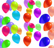 Balloons. Colorful party balloons with curly ribbons. Vector Royalty Free Stock Image
