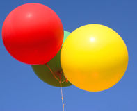 Balloons against a blue sky Stock Photo
